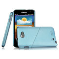 Imak ultra-thin hard skin cases covers for Samsung Galaxy Note i9220 N7000 i717 - Blue (Screen protection film)
