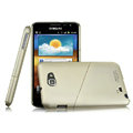 Imak ultra-thin hard skin cases covers for Samsung Galaxy Note i9220 N7000 i717 - Champagne (Screen protection film)