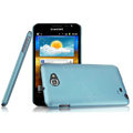 Imak ultra-thin scrub hard cases covers for Samsung Galaxy Note i9220 N7000 i717 - Blue (Screen protection film)