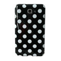 Polka Dot silicone cases covers for Samsung Galaxy Note i9220 N7000 - Black