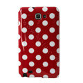 Polka Dot silicone cases covers for Samsung Galaxy Note i9220 N7000 - Red