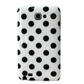 Polka Dot silicone cases covers for Samsung Galaxy Note i9220 N7000 - White