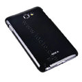 ROCK bright side skin hard cases covers for Samsung Galaxy Note i9220 - Black (Screen protection film)