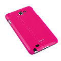 ROCK bright side skin hard cases covers for Samsung Galaxy Note i9220 - Rose (Screen protection film)