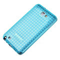 ROCK magic cube TPU soft case skin covers for Samsung Galaxy Note i9220 - Blue (Screen protection film)