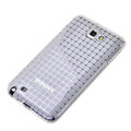 ROCK magic cube TPU soft case skin covers for Samsung Galaxy Note i9220 - White (Screen protection film)