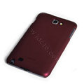ROCK matte scrub skin hard cases covers for Samsung Galaxy Note i9220 - Red (Screen protection film)