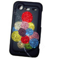 Bling Balloon crystals diamond cases covers for HTC Incredible S S710e G11 - Black