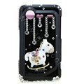 Bling Carousel crystals diamond cases covers for HTC Incredible S S710e G11 - Black