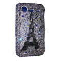 Bling Eiffel Tower crystals diamond cases covers for HTC Incredible S S710e G11 - White