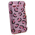 Bling Leopard crystals diamond cases covers for HTC Incredible S S710e G11 - Pink