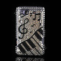 Bling Piano crystals diamond cases covers for HTC Salsa G15 C510e - Black