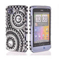 Bling Round crystals diamond cases covers for HTC Salsa G15 C510e - Black