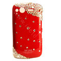 Bling S-warovski crystals diamond cases covers for HTC Salsa G15 C510e - Red