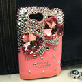 Bling bowknot S-warovski crystals diamond cases covers for HTC Salsa G15 C510e - Red