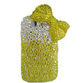 Bling bowknot crystals diamond cases covers for HTC Salsa G15 C510e - Yellow