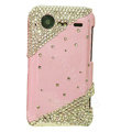 Bling crystals diamond hard cases covers for HTC Incredible S S710e G11 - Pink