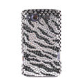 Bling zebra crystals diamond cases covers for HTC Salsa G15 C510e - Black