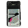 Bling High-heeled shoes crystals cases diamond covers for HTC Incredible S S710e G11 - Black