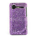Bling Point crystals cases diamond covers for HTC Incredible S S710e G11 - Purple