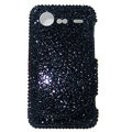 Bling crystals diamonds cases covers for HTC Incredible S S710e G11 - Black