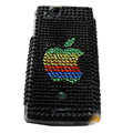 Apple bling crystals cases covers for Sony Ericsson Xperia Arc LT15I X12 LT18i - Black