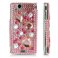 Bling 3D crystals cases covers for Sony Ericsson Xperia Arc LT15I X12 LT18i - Pink