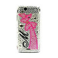 Bowknot bling crystals cases cover for Sony Ericsson Xperia Arc LT15I X12 LT18i - White