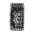 Butterfly bling crystals cases covers for Sony Ericsson Xperia Arc LT15I X12 LT18i - Black