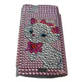 Cat bling crystals cases covers for Sony Ericsson Xperia Arc LT15I X12 LT18i - Pink
