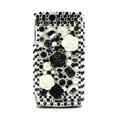 Flower 3D bling crystals cases covers for Sony Ericsson Xperia Arc LT15I X12 LT18i - Black