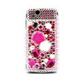 Flower 3D bling crystals cases covers for Sony Ericsson Xperia Arc LT15I X12 LT18i - Rose