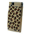 Leopard bling crystals cases covers for Sony Ericsson Xperia Arc LT15I X12 LT18i - Brown