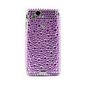 Point bling crystals cases covers for Sony Ericsson Xperia Arc LT15I X12 LT18i - Purple