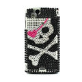 Skull bling crystals cases covers for Sony Ericsson Xperia Arc LT15I X12 LT18i - Black