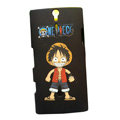 Cartoon scrub hard skin cases covers for Sony Ericsson LT26i Xperia S - Black