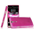 IMAK Ultrathin Scrub Skin Cases Covers for Sony Ericsson LT26i Xperia S - Transparent Rose