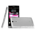 IMAK Ultrathin Scrub Skin Cases Covers for Sony Ericsson LT26i Xperia S - Transparent White