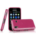 Imak Ultrathin Jelly Cases Covers for Samsung Galaxy Ace S5830 i579 - Rose (Screen protection film)