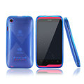 Nillkin Super Scrub Rainbow Cases Skin Covers for K-touch W700 - Blue