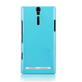 Nillkin bright side hard cases covers for Sony Ericsson LT26i Xperia S - Blue