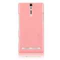 Nillkin bright side hard cases covers for Sony Ericsson LT26i Xperia S - Pink