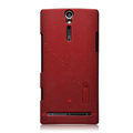 Nillkin scrub hard skin cases covers for Sony Ericsson LT26i Xperia S - Red