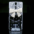 Pearl bowknot bling crystals cases covers for Sony Ericsson LT26i Xperia S - White