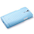 ROCK TPU soft cases skin covers for Sony Ericsson LT26i Xperia S - Blue