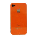 Ultrathin Piano paint Hard Back Cases Covers for iPhone 4G/4S - Orange