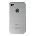 Ultrathin Piano paint Hard Back Cases Covers for iPhone 4G/4S - Silver