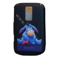 Cartoon Eeyore Scrub Hard Skin Cases Covers for Blackberry 9000 - Black