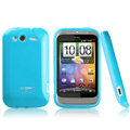 Boostar TPU soft skin cases covers for HTC Wildfire S A510e G13 - Blue
