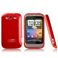 Boostar TPU soft skin cases covers for HTC Wildfire S A510e G13 - Red